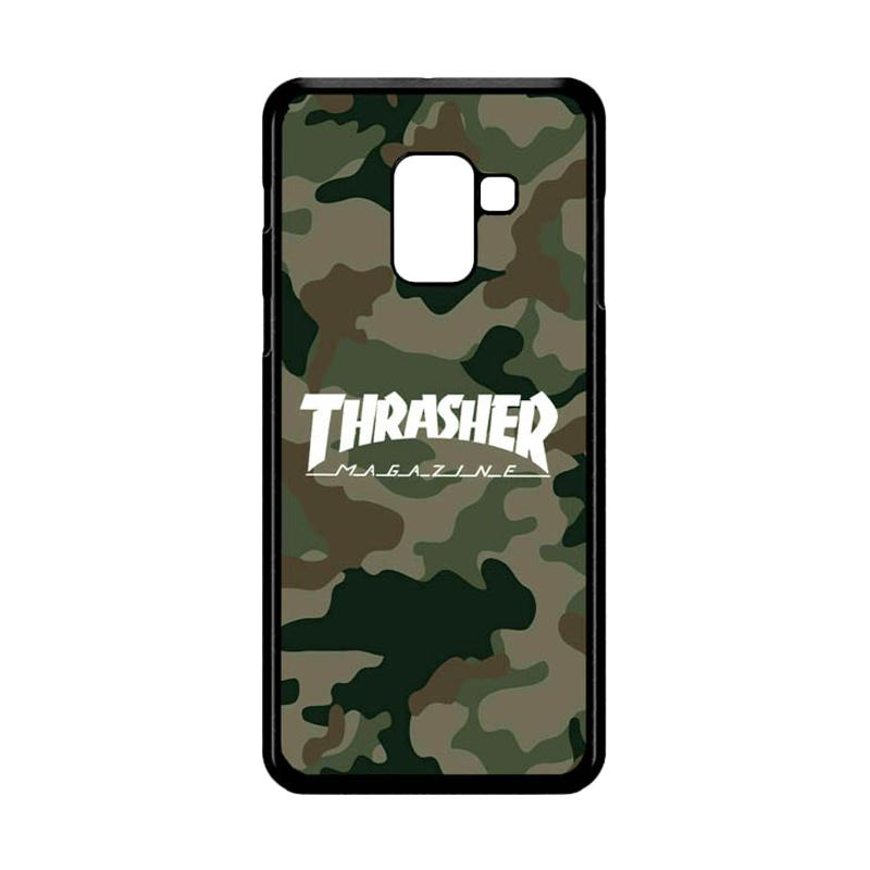Bunnycase Thrasher Magazine Army L0585 Custom Hardcase Casing for Samsung  Galaxy A8 Plus 2018