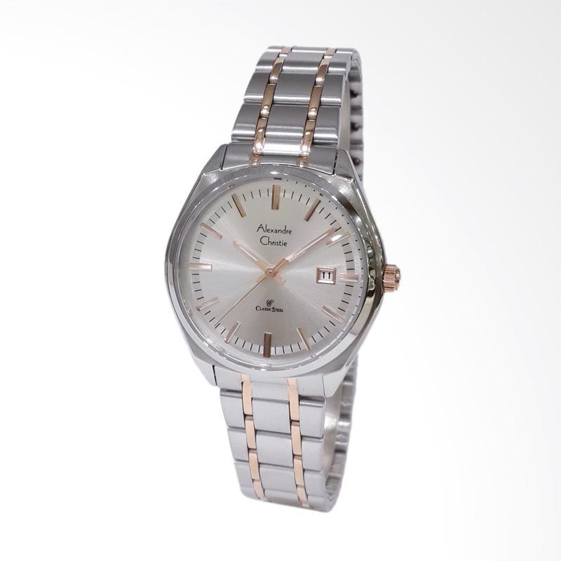 Alexandre Christie 8559LDBTRSL Classic Steel Jam Tangan Wanita