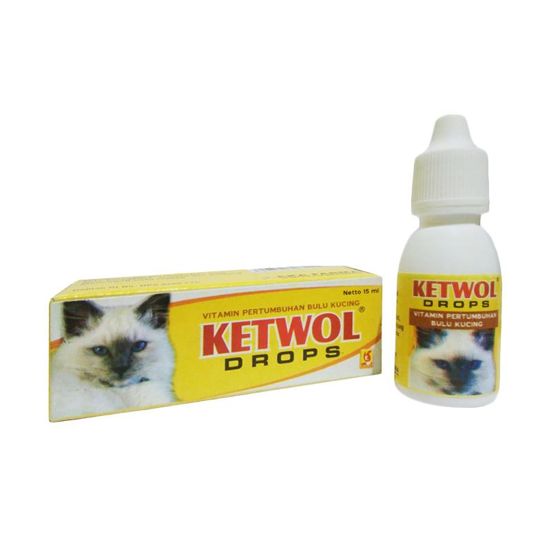 Eka Farma Ketwol Drops Vitamin Kucing Bulu Rontok Penumbuh Bulu Anak Kucing Kecil 15 mL