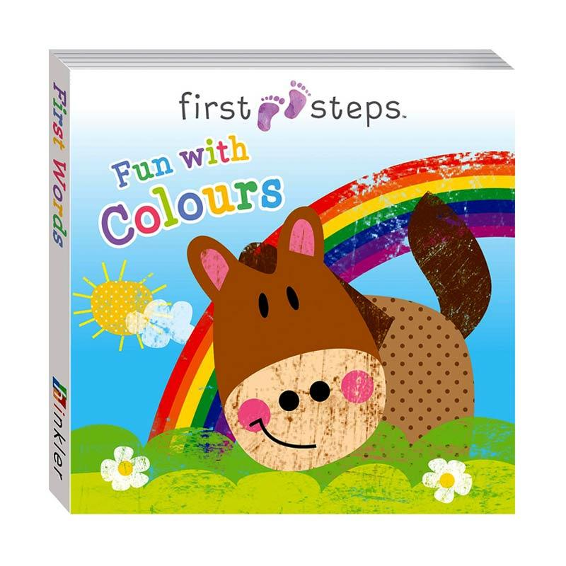 Jual Genius Baby First Steps Fun with Colours Board Book Buku Anak Diskon