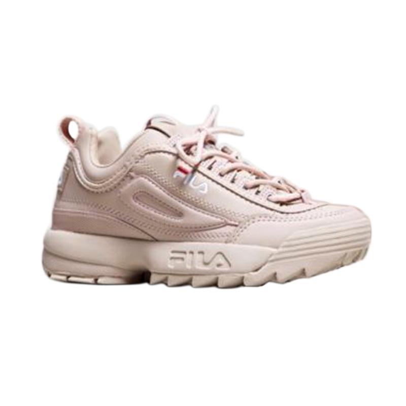 Fila Disruptor 2 Women Shoes Sepatu Olahraga Wanita Pale Pink FS1HTA1075X_EPK