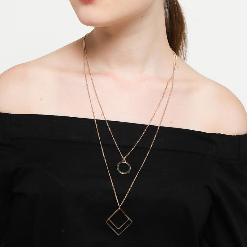 Ben Bella 21 42 Double Square Long Necklaces