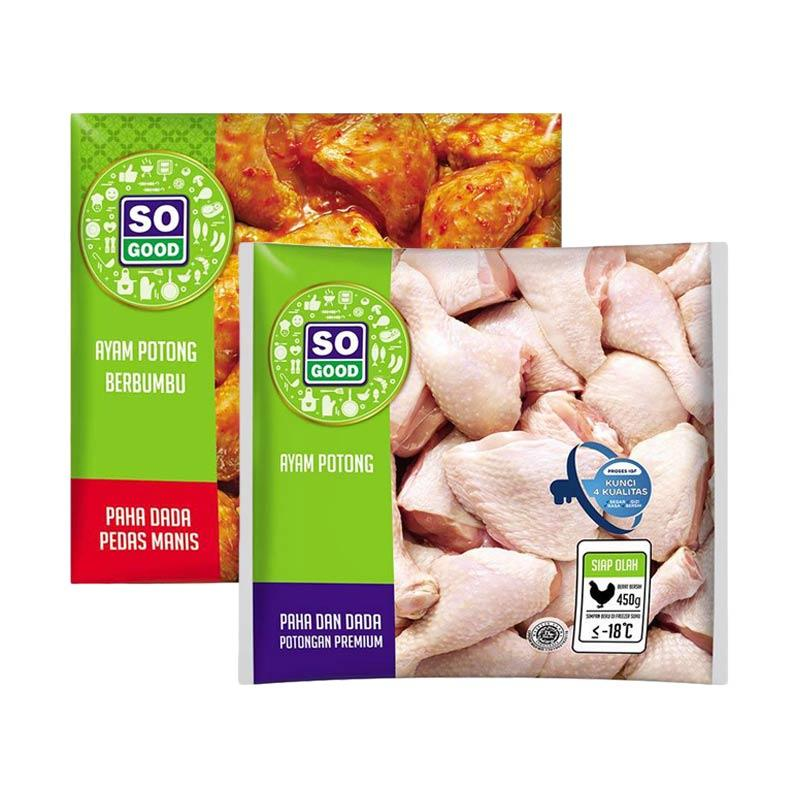 Paket Merah Putih 1 So Good Ayam Potong Paha Dada Rasa Pedas Manis 450 g 1 So Good Ayam Potong Paha Dada 450 g