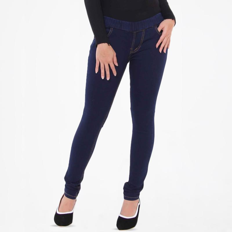 Jual Jsk Jeans 8102 Legging Jeans Celana Wanita Navy Online September 2020 Blibli Com