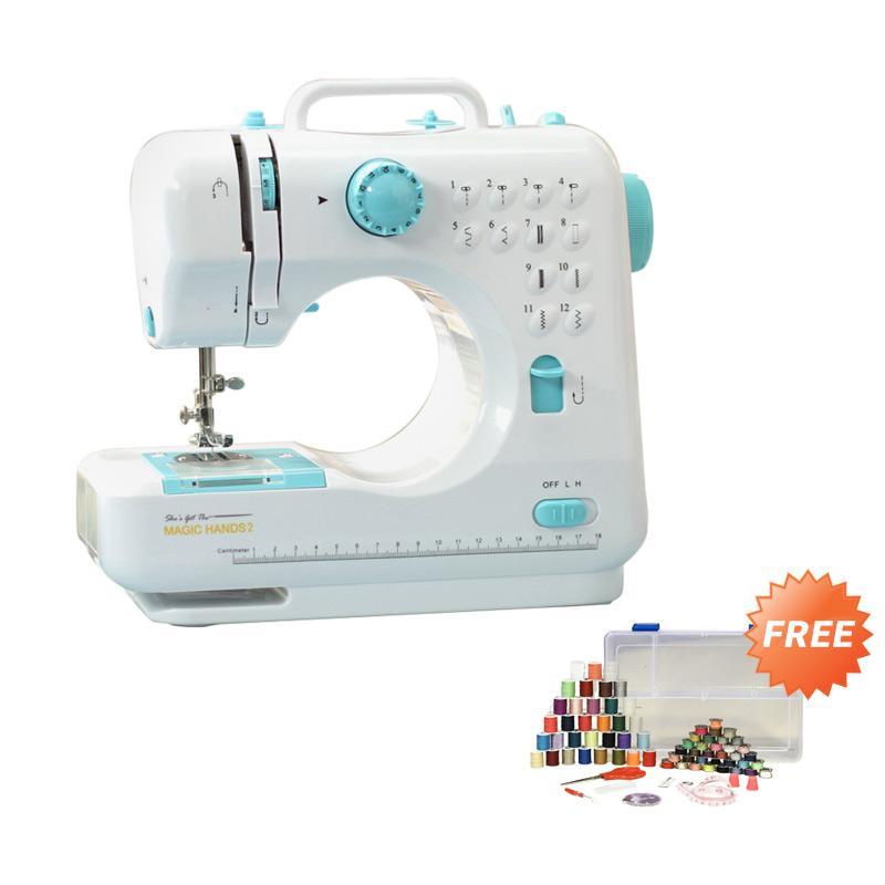 Jual Magic Hands New Sewing Machine Mesin Jahit [White & Blue] Terbaru - Harga Promo Juli 2019 | Blibli.com