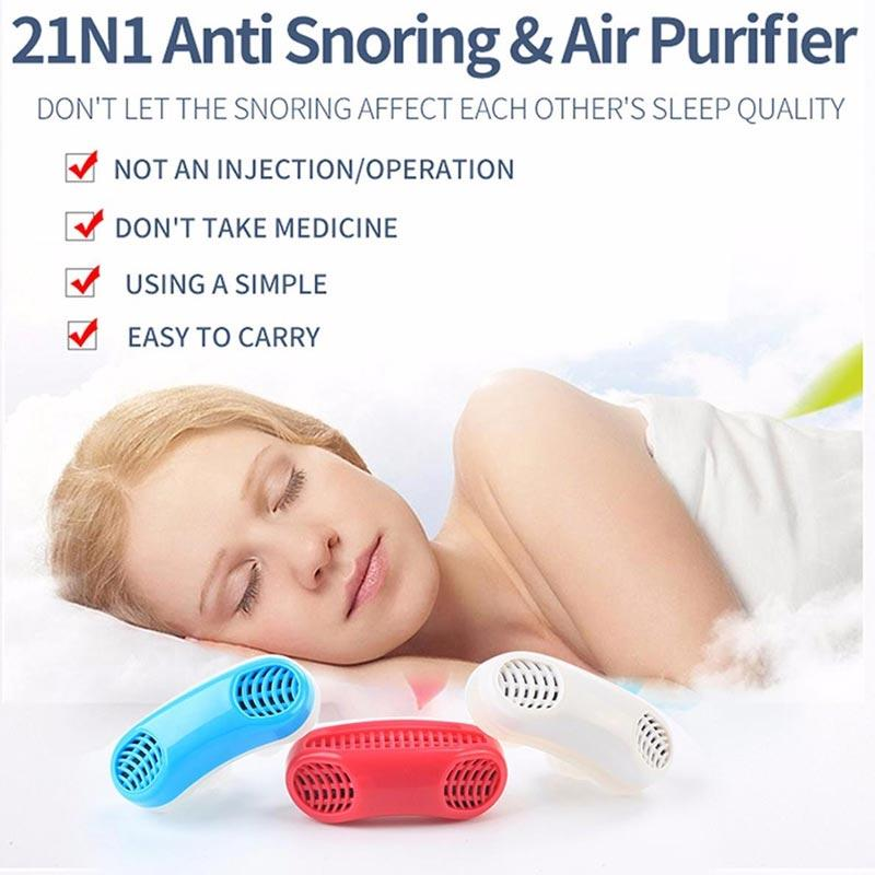 IIT Stop Snoring Nose Breathing Apparatus Air Purifier Stop Grinding  Relieve Snoring for Men Women Health Sleep Aid Device Red
