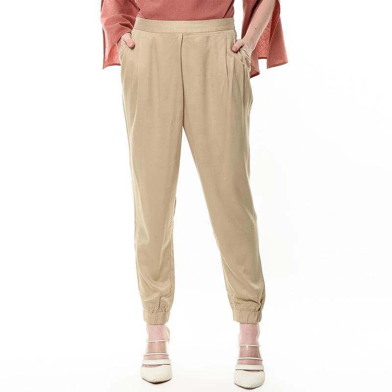 et cetera 8 LPWKEY218A040 Long Pants Celana Wanita Khaki
