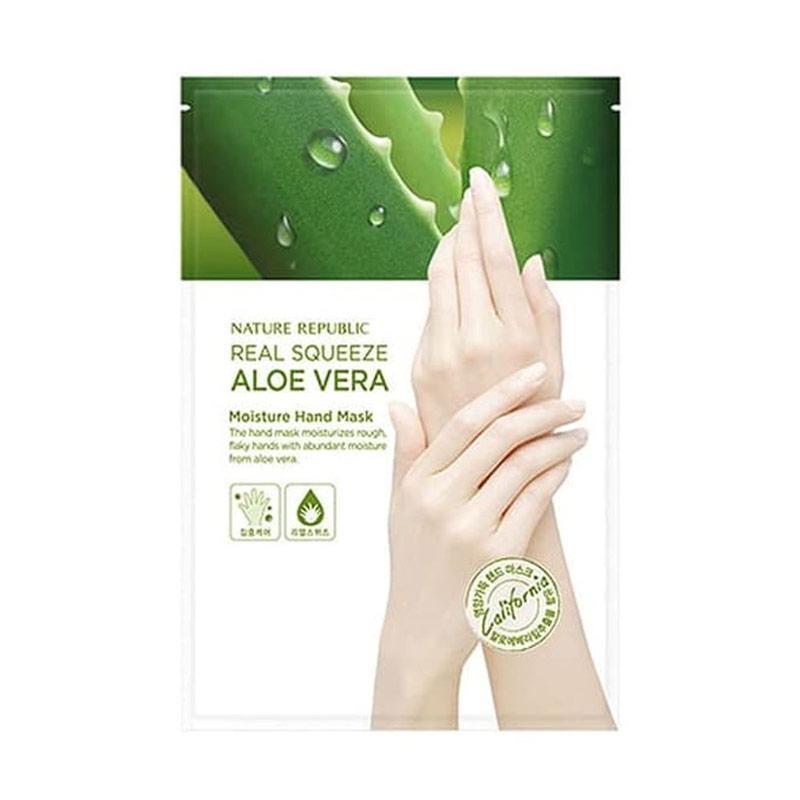 Nature Republic Real Squeeze Aloe Vera Moisture Hand Mask