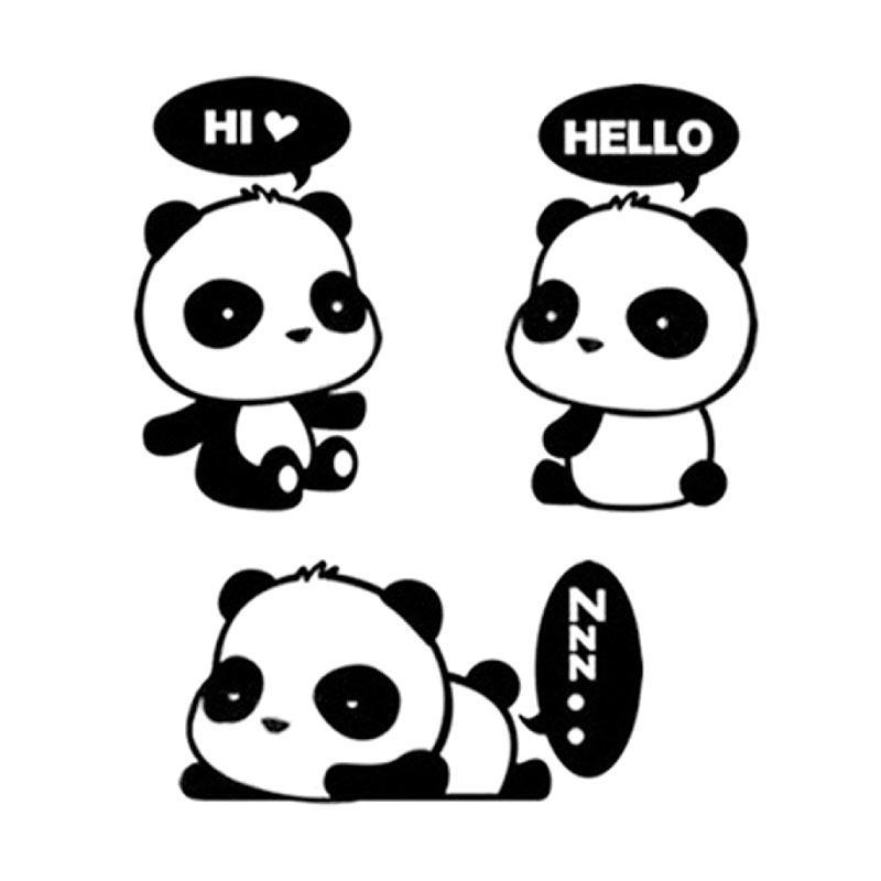 Jual Fs Bluelans Lovely Cartoon Panda Room Window Door Decals Decor Removable Wall Switch Sticker Online Desember 2020 Blibli
