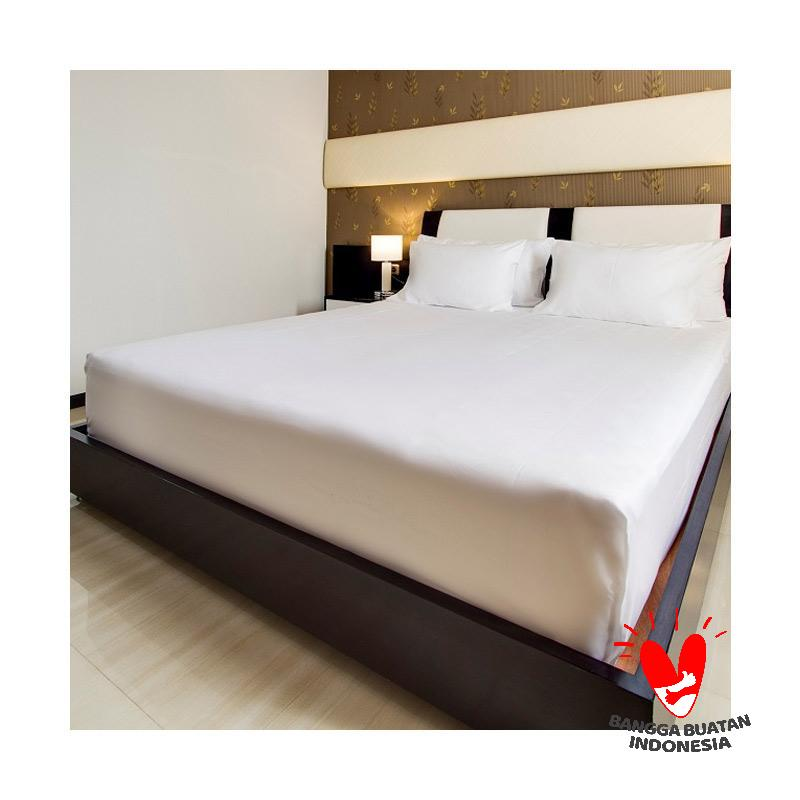 IndoLinen Premium Fitted Sheet Sprei Putih