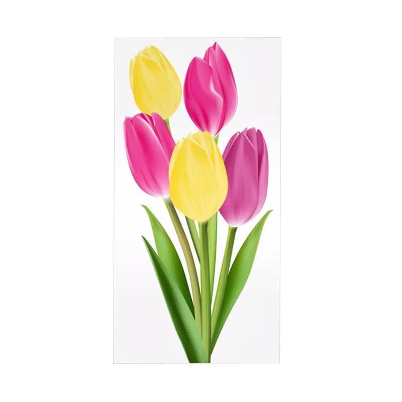 Jual Dekardekor Baa6 Kayu Shabby Chic Bunga Tulip Hiasan Dinding Online November 2020 Blibli Com