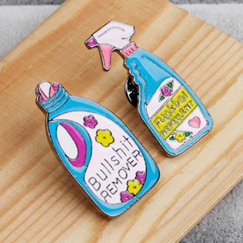 Jual Bluelans 2 Lovely Laundry Detergent Hat Bag Jacket Collar Decor Badge Enamel Brooch Pin Online Desember 2020 Blibli