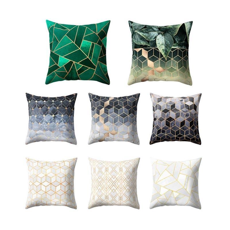 Geometry Rhombus Pattern Throw Pillow