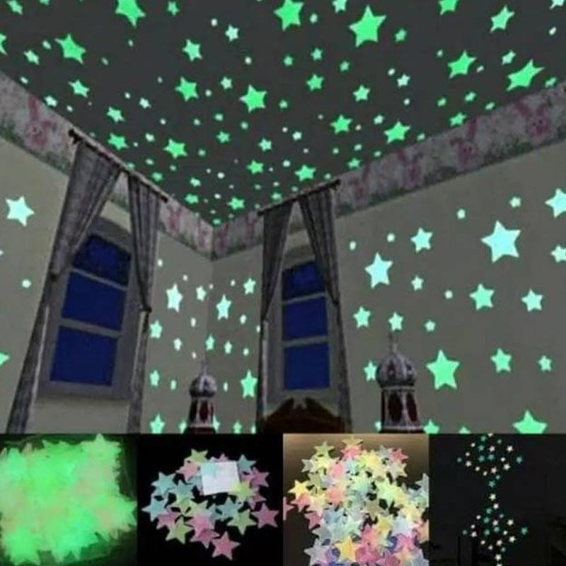 Jual Lila S10 Glow In The Dark Stiker Bintang Dinding Online April 2021 Blibli