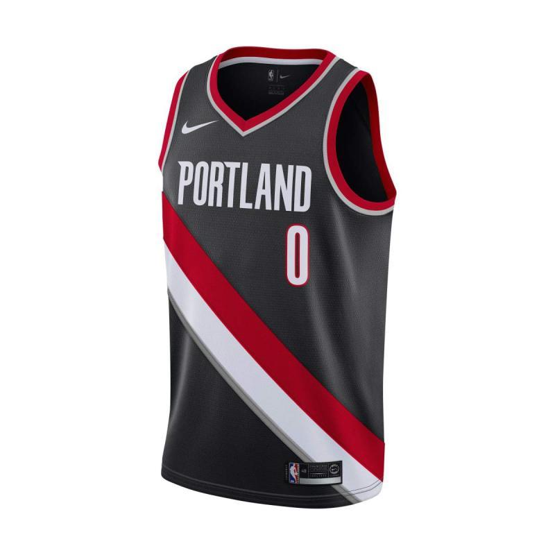 ZBNBA Portland Trail Blazers Damian-Lillard 0 Swingman Mens Jersey