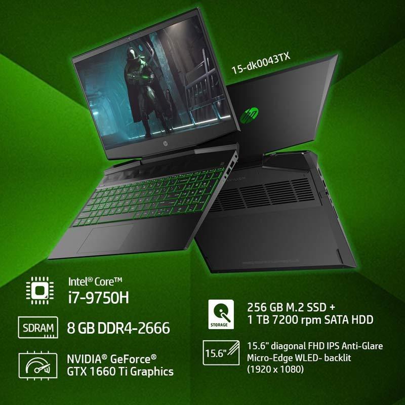 Jual Hp 15 Dk0043tx Pavilion Gaming Laptop Hitam Intel Core I7 9750h 8 Gb 1 Tb 9th Generation Intel Core I7 Processor 15 6 Inch W10 Online Oktober 2020 Blibli Com