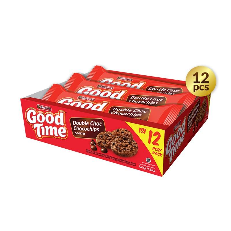 Arnotts Good Time Cookies Double Choc Biskut