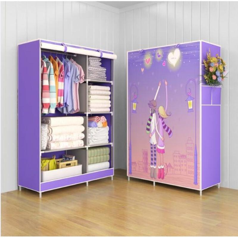 hummingbird 03 lemari plastik lemari portable lemari pakaian baju bongkar pasang multifungsi wardrobe love full01