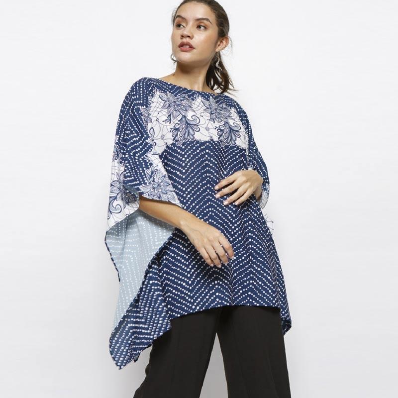 Minimal Batik Boho Caftan Tunic Atasan Wanita