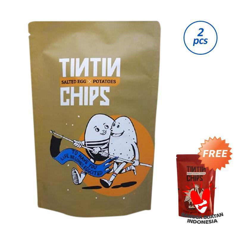 Tintin Chips Bundling Salted Egg Makanan Ringan