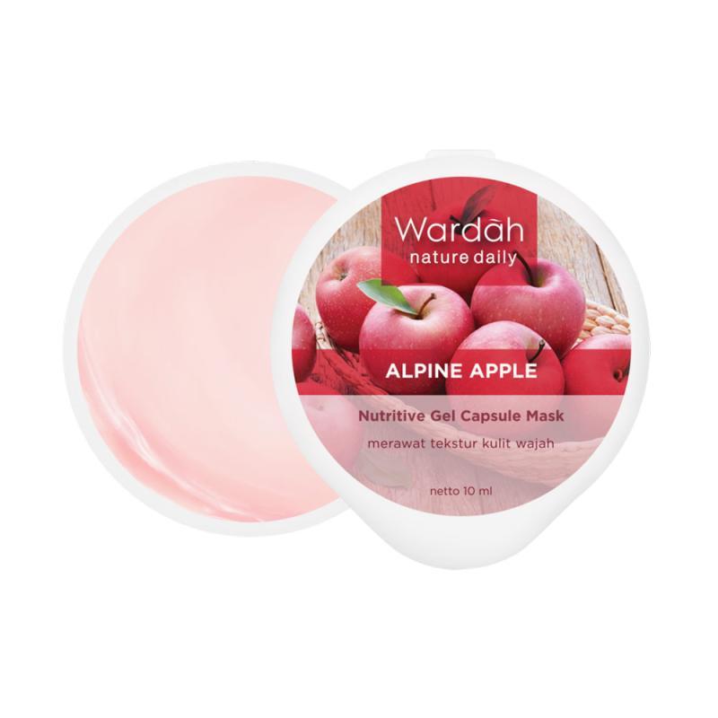 Wardah Nature Daily Alpine Apple Nutritive Gel Capsule Mask