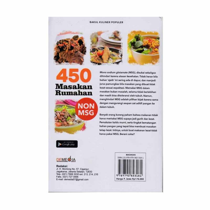 Jual Demedia 450 Masakan Rumahan Non Msg By Dapur Foody Buku Seni Kuliner Online Januari 2021 Blibli