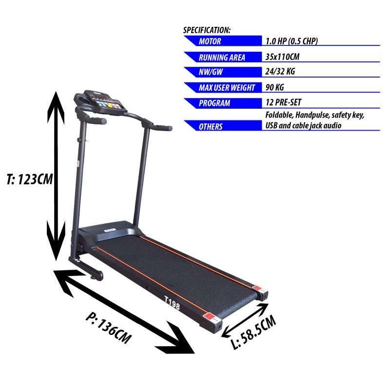 twen twen treadmill elektrik twen alat fitness  t198  full07 t57n5e7i