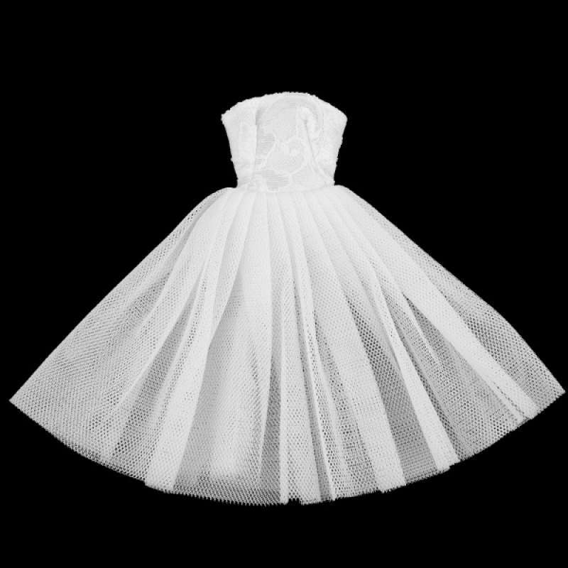 Jual Oem 1 6 Charming Tube Top Wedding Dress For Doll Dress Up Decor White Online Oktober 2020 Blibli Com