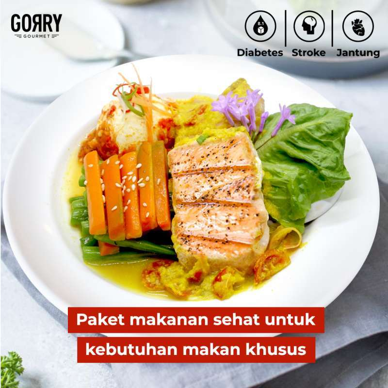 Gorry Gourmet Paket Diabetes / Stroke / Jantung 15 Days Lunch/Dinner