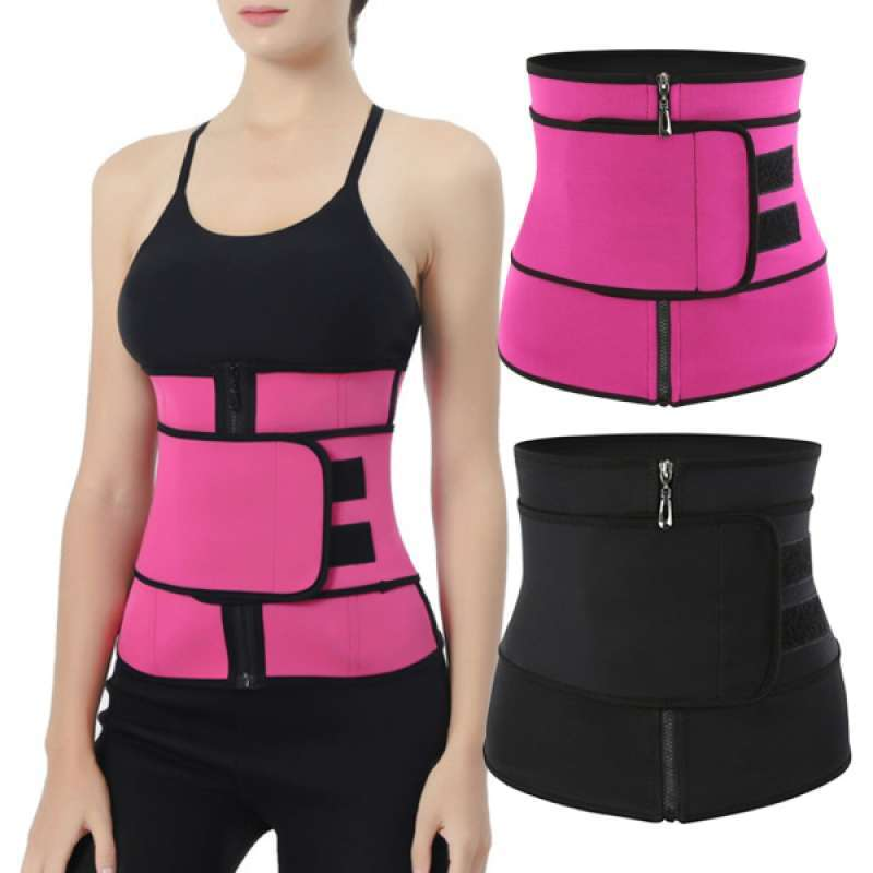 2Pcs Women Waist Trainer Elastic Cincher Sport Postpartum Corset Girdle