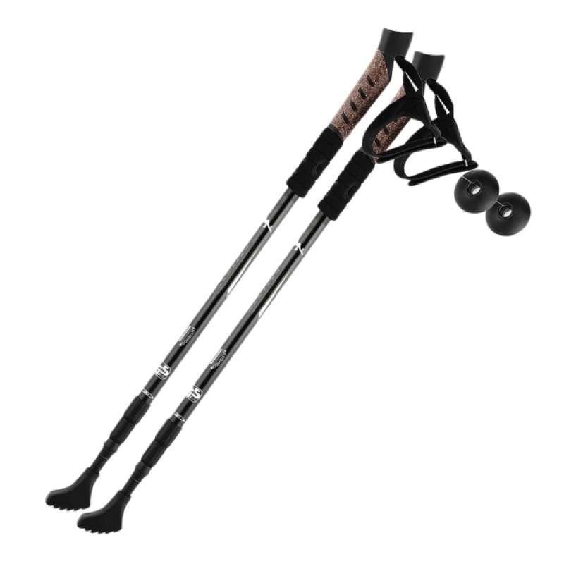 Jual 2pcs Cork Handle Hiking Camping Trekking Walking Sticks Telescopic Pole Cane Online Desember 2020 Blibli