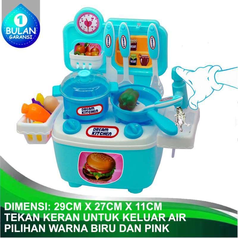 Jual Tomatoys Dream Kitchen Set Kitchen Play Set Mainan Anak Perempuan Masak Masakan Koper Ada Keran Air Online November 2020 Blibli Com
