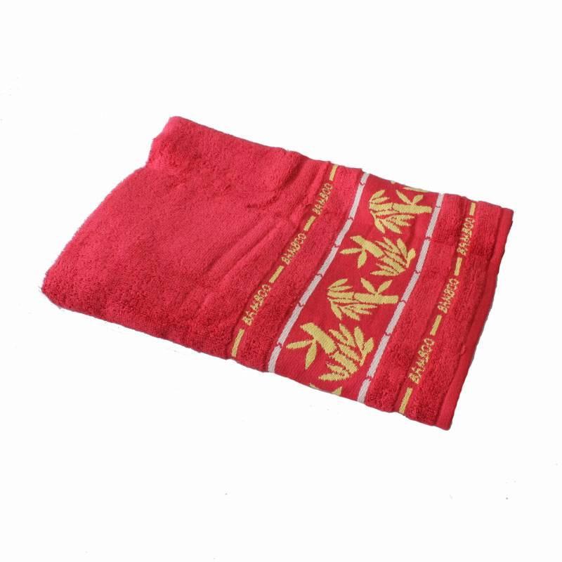 Chalmer Motif Handuk Mandi - Merah [70 x 140 cm]