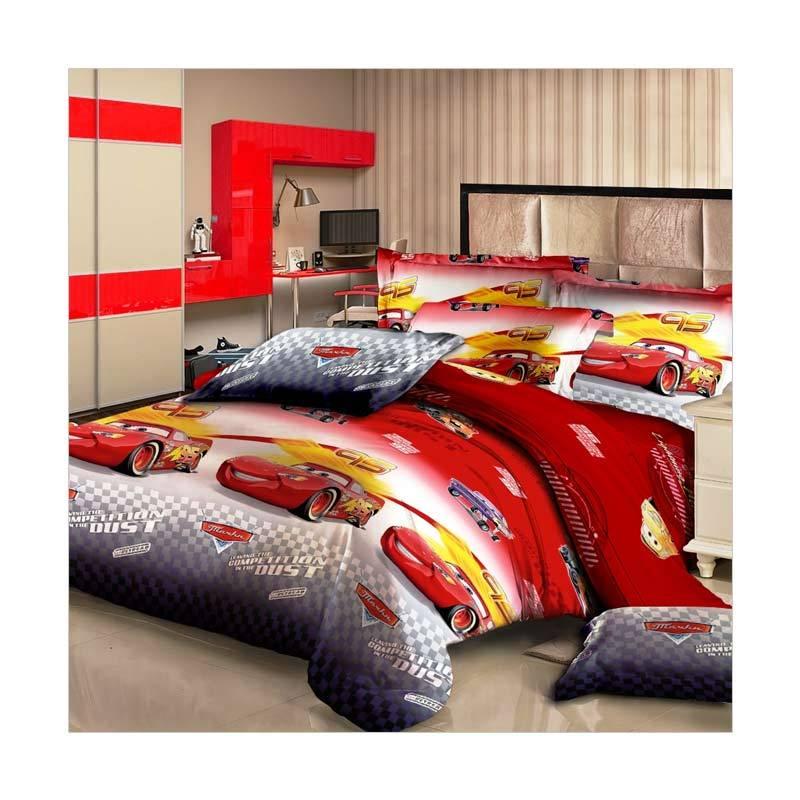 Monalisa T20 Motif Cars Set Sprei - Merah