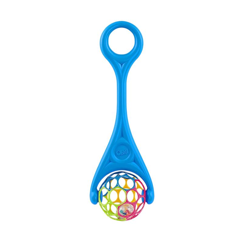 Oball 2in1 Roller Rattle Mainan Anak - Blue
