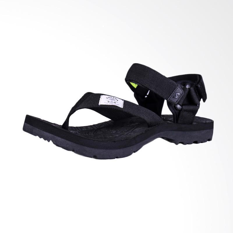 Savana Panite Clip Bar Sandal Pria - Black