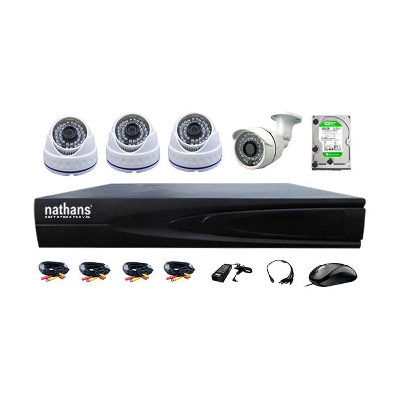 harga Nathans AHD Paket CCTV [4 CAMERA 1.0 MP/ HDD 500GB] Blibli.com