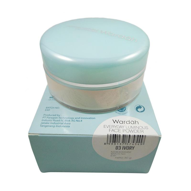 Wardah wardah luminous face powder ivory  full02