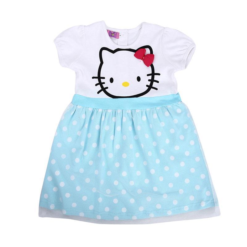 4 You Hello Kitty Print Dress - Biru