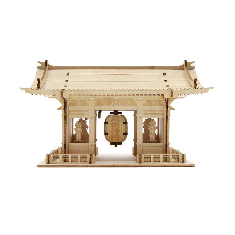 Kigumi 3D Puzzle Kayu Kaminarimon Model Kit
