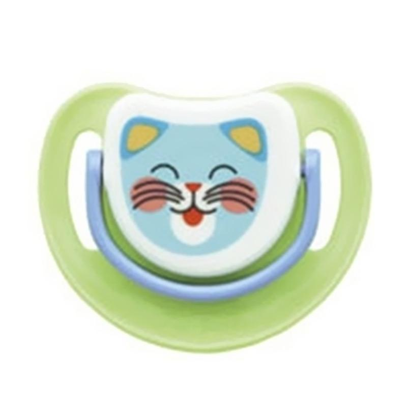 Pigeon Tiger Silicone Pacifier - Green