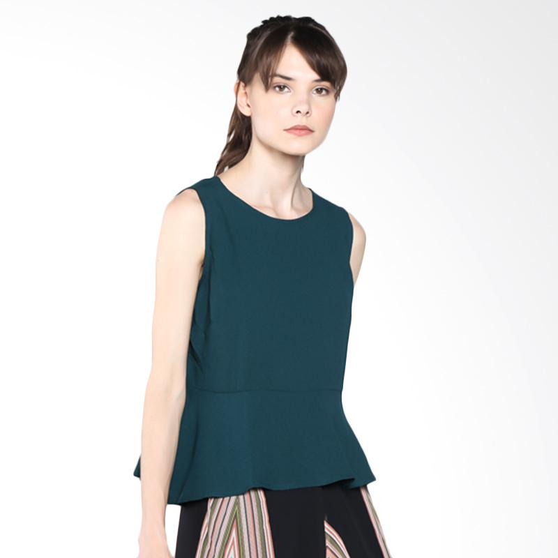 PS Career PC603RG50427 Peplum Top - Green