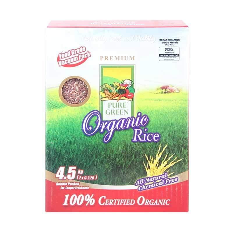 Pure Green Beras Organik 4.5kg - Merah