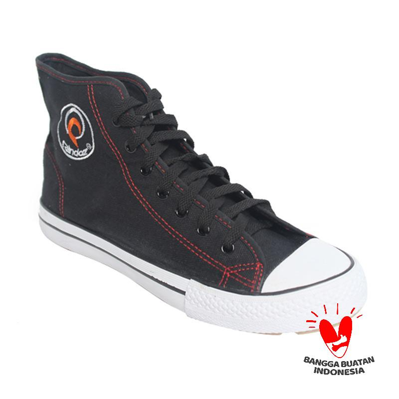Raindoz RJA 094 High Lace Sneakers - Black