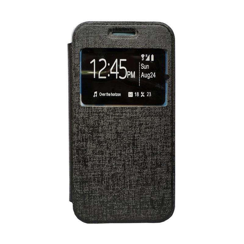 Zagbox Flip Cover Casing for Coolpad Max - Hitam