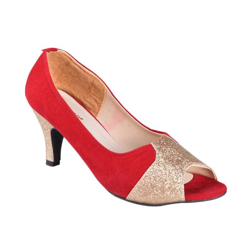 RSM SN-186 Sepatu High Heels Wanita - Merah