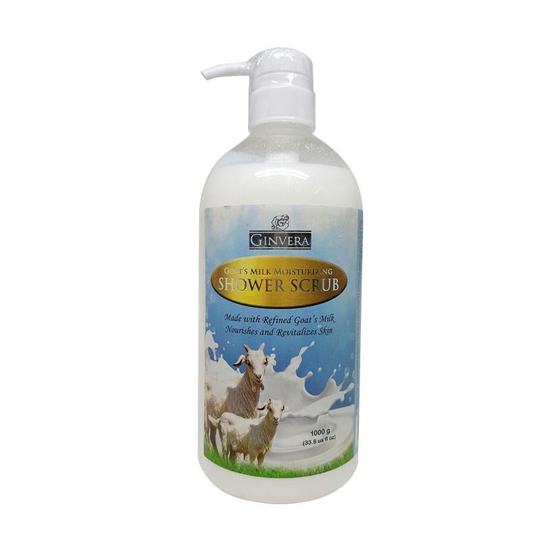 Ginvera Scrub Goat Milk Sabun Mandi [1000 mL]