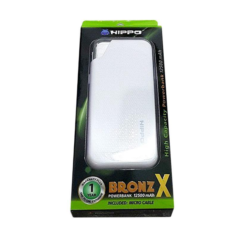 Hippo Bronz X Powerbank - Putih[12500 mAh]