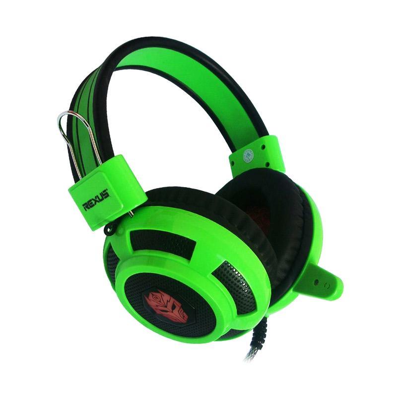 REXUS Pro F15 LED Gaming Headset - Hijau