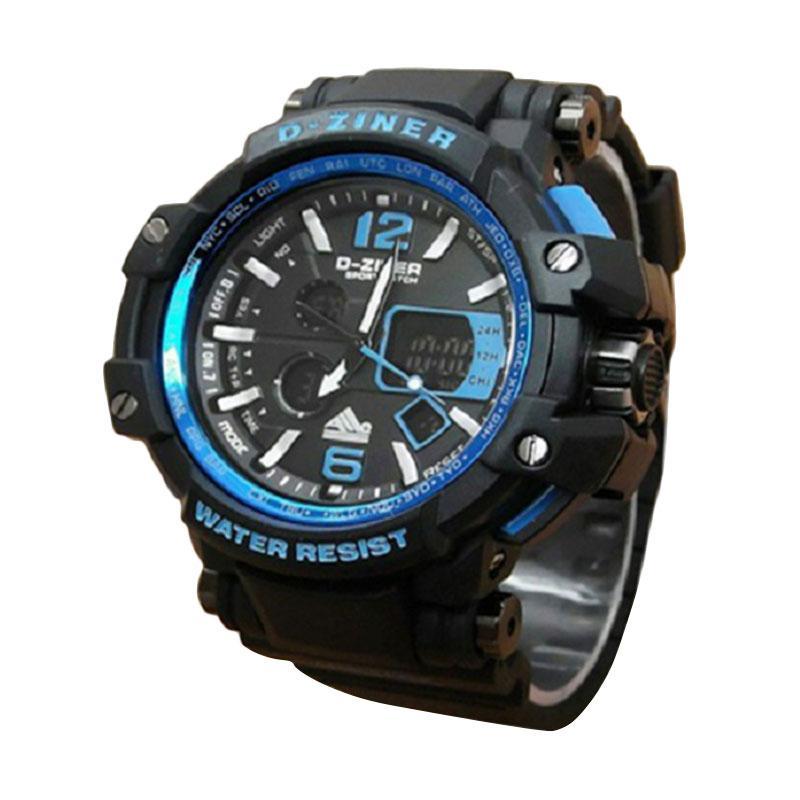 D-ziner dz 8090b Dual Time Jam Tangan Pria
